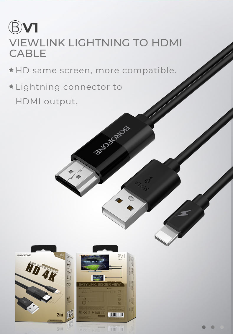 borofone news audio video v series adapters cables v1