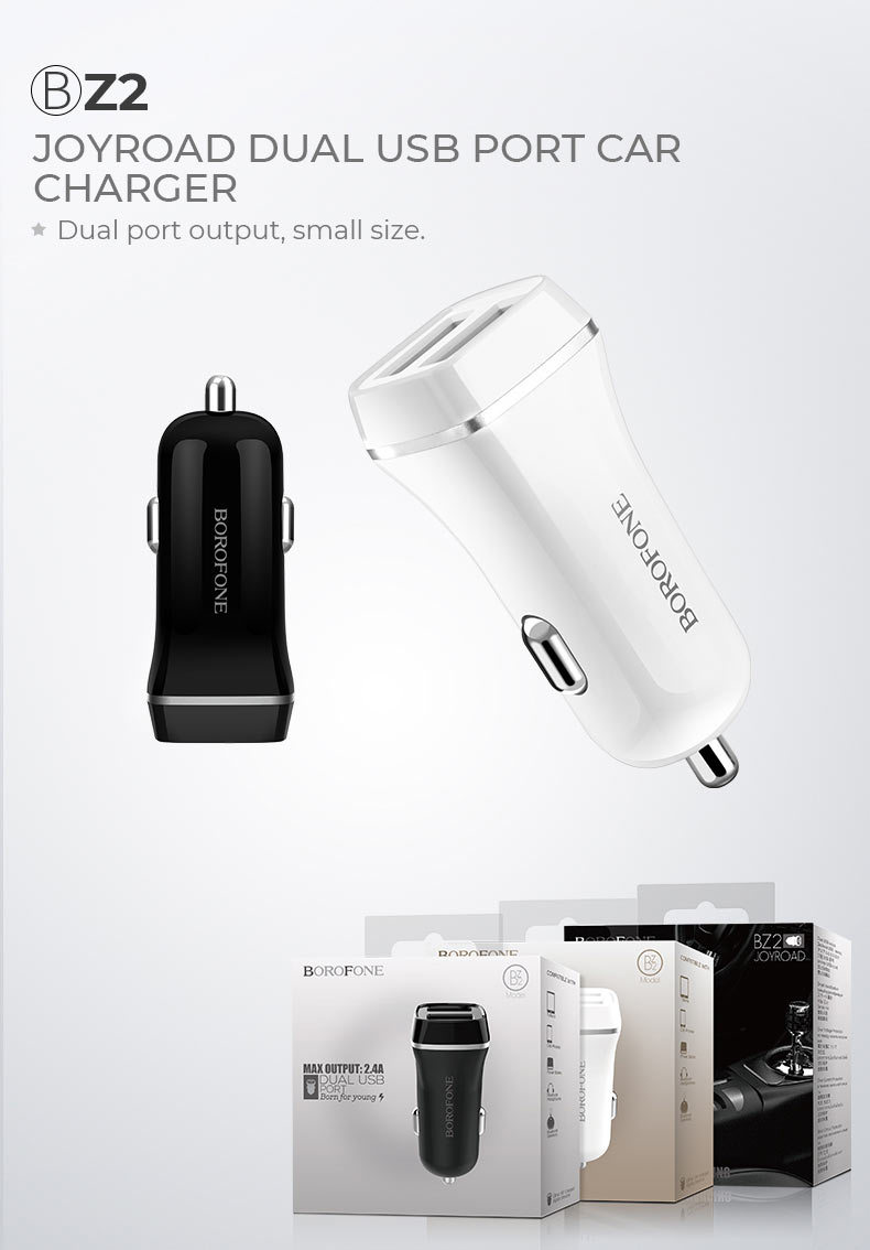 borofone news z series in car charger z2