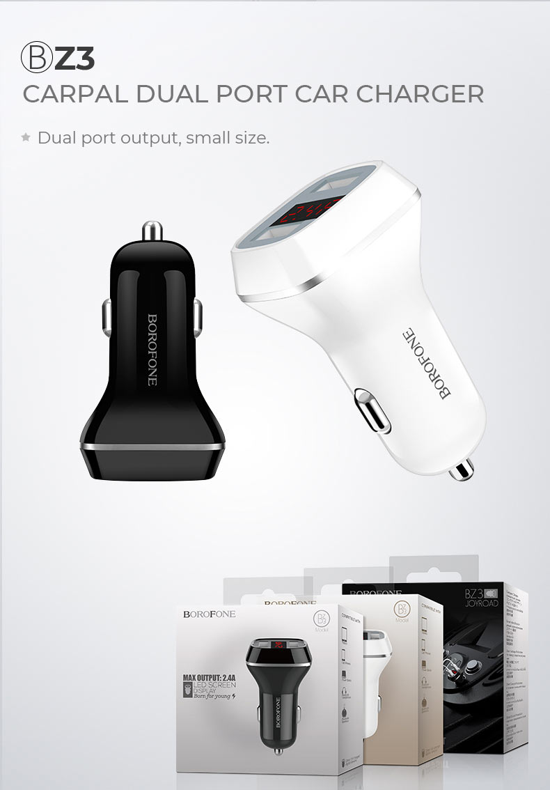 borofone news z series in car charger z3