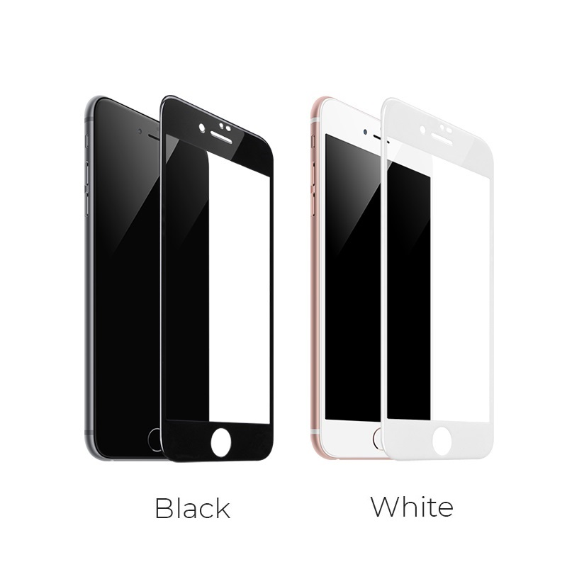 borofone bf1 gentouch 3d full screen glass protector for iphone 7 8 colors