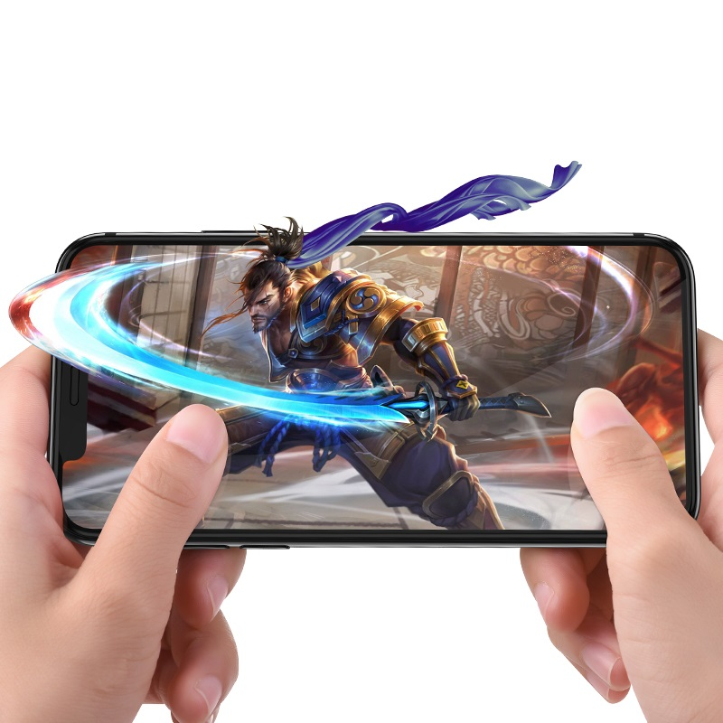 borofone bf1 gentouch 3d full screen tempered glass protector for iphone xr xs max gaming