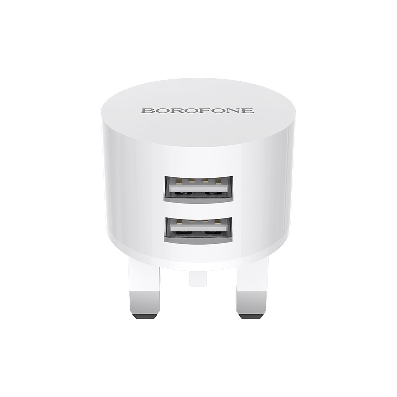 borofone ba23b brilliant dual usb port wall charger uk ports