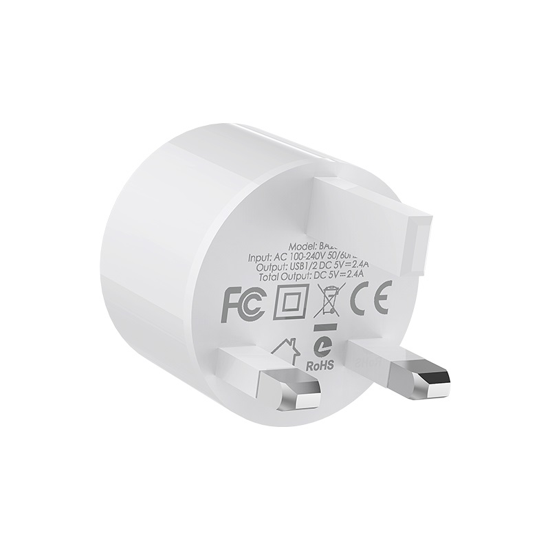 borofone ba23b brilliant dual usb port wall charger uk specs