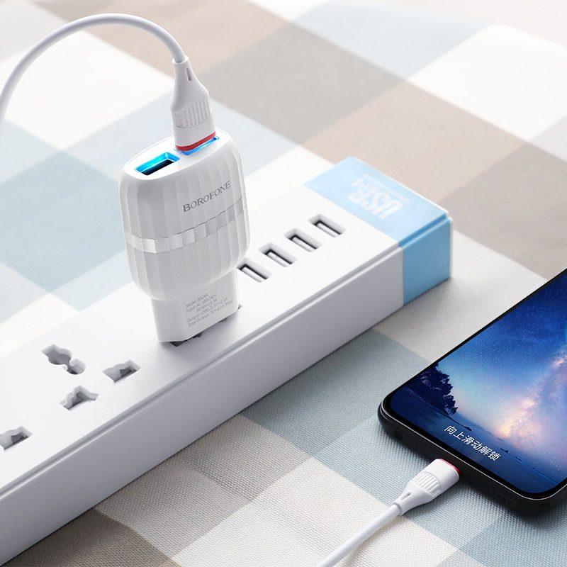 Wall charger BA24A Vigour EU set with cable