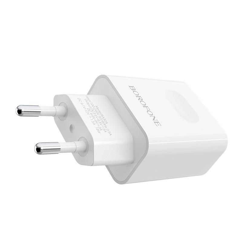 borofone ba32a bright power widely compatible charger en logo