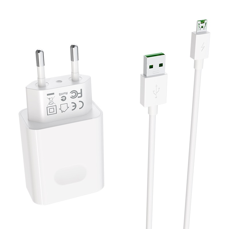 borofone ba32a bright power widely compatible charger eu set with micro usb cable plug