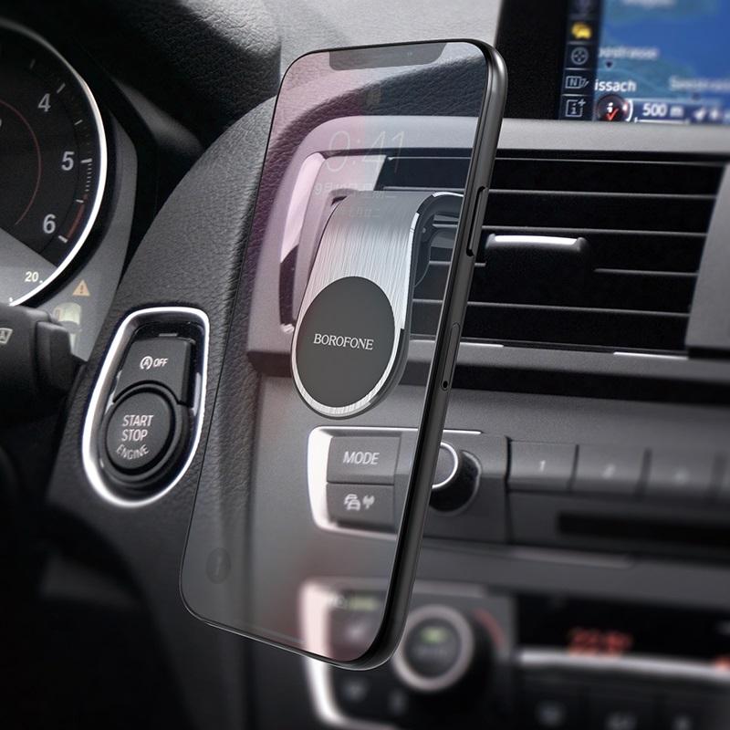 borofone bh10 автомобильный магнитный держатель телефона для воздуховода интерьер