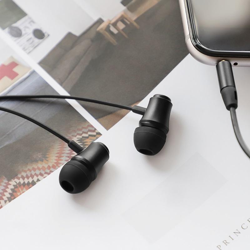 borofone bm29 gratified universal wired earphones with mic interior black