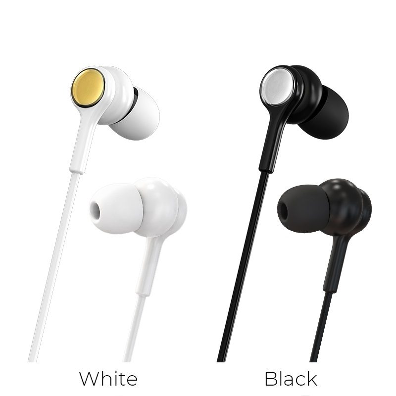 borofone bm33 complacent universal wired earphones with mic colors