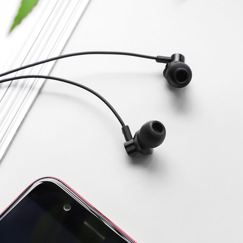 borofone bm35 farsighted universal earphones with mic interior black