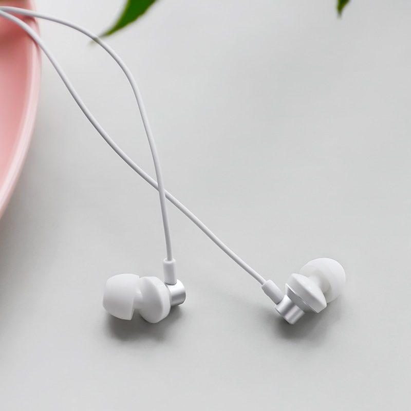 borofone bm35 farsighted universal earphones with mic interior silver