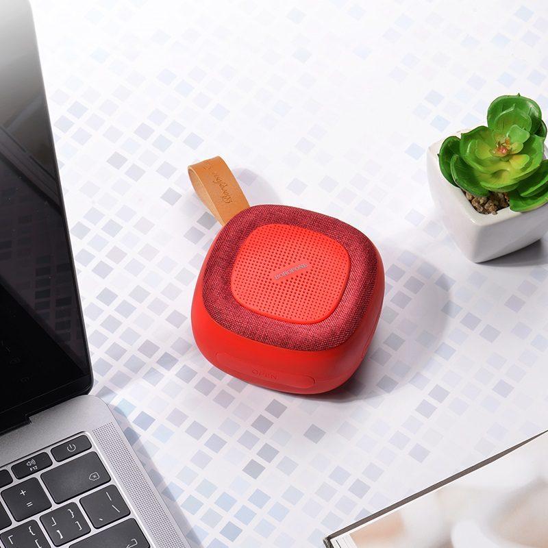 borofone bp5 cool sports wireless speaker interior red