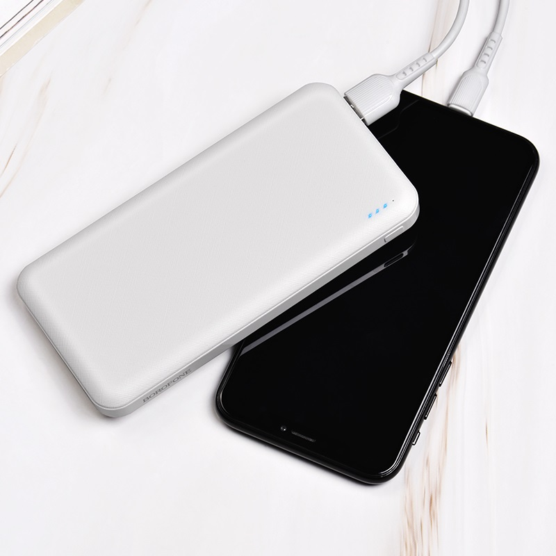 borofone bt20 powerful mobile power bank 10000mah white charging
