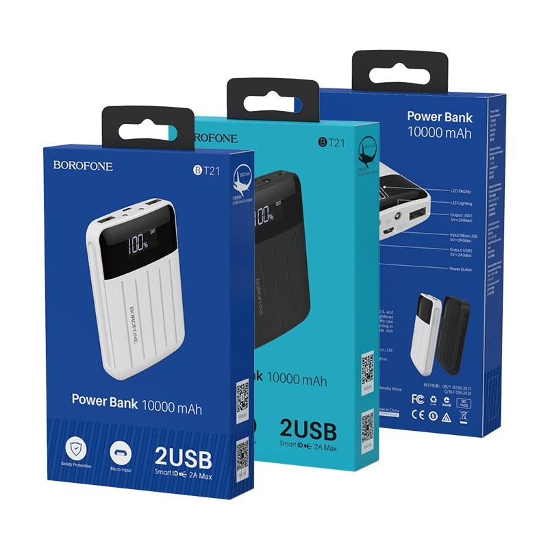 borofone bt21 universal energy mobile power bank 10000mah packages