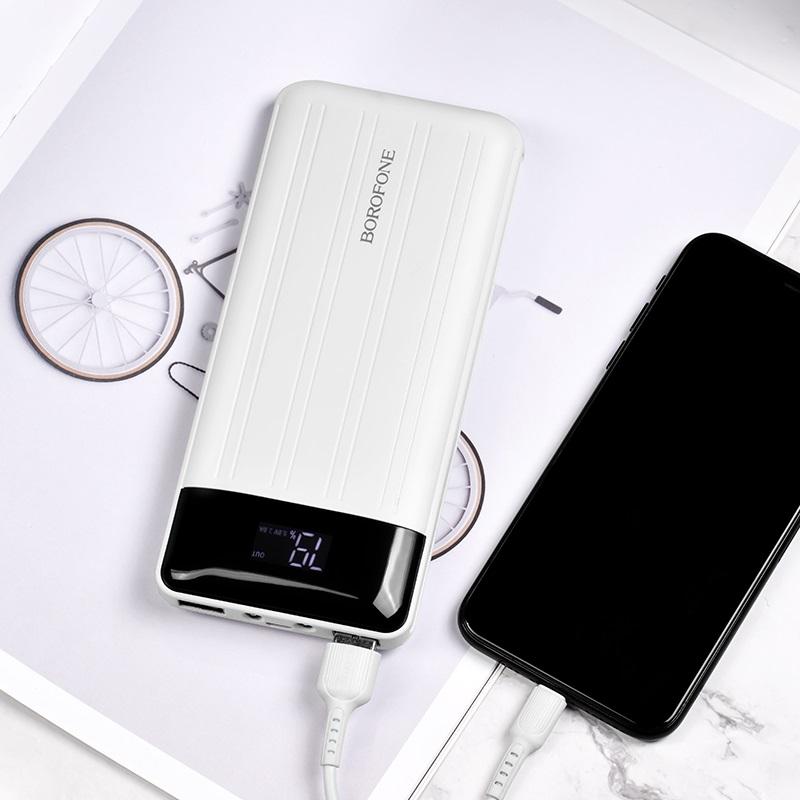 borofone bt21a universal energy mobile power bank 20000mah charging