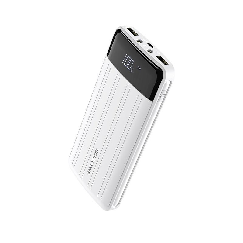 borofone bt21a universal energy mobile power bank 20000mah display