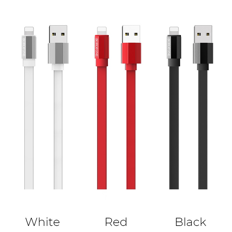 borofone bu8 glory charging data cable for lightning colors