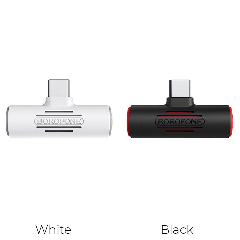 borofone bv8 type c 2 in 1 audio converter colors