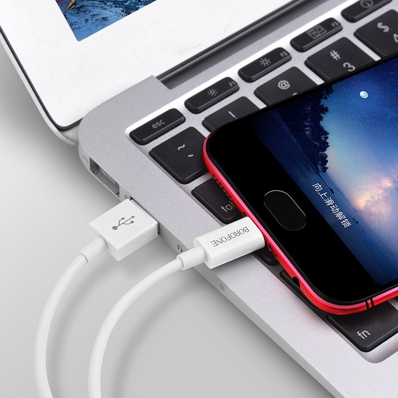 borofone bx22 bloom charging data cable for micro usb interior