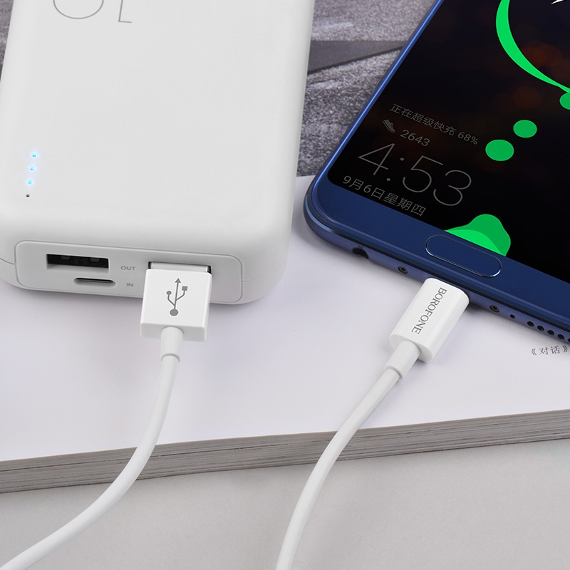 borofone bx22 bloom charging data cable for usb c charging
