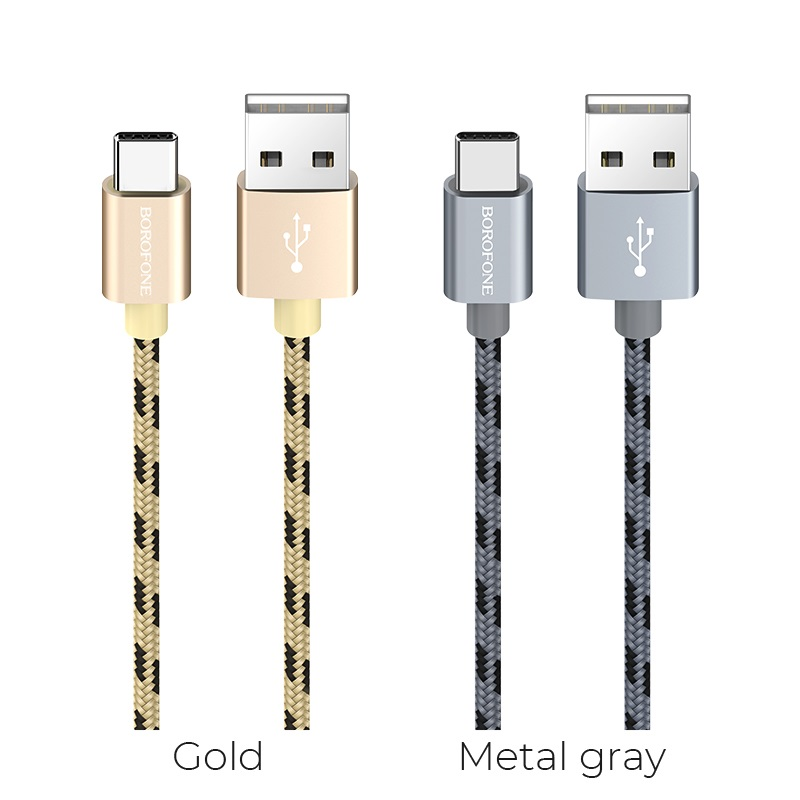 borofone bx24 ring current charging data cable for usb c colors