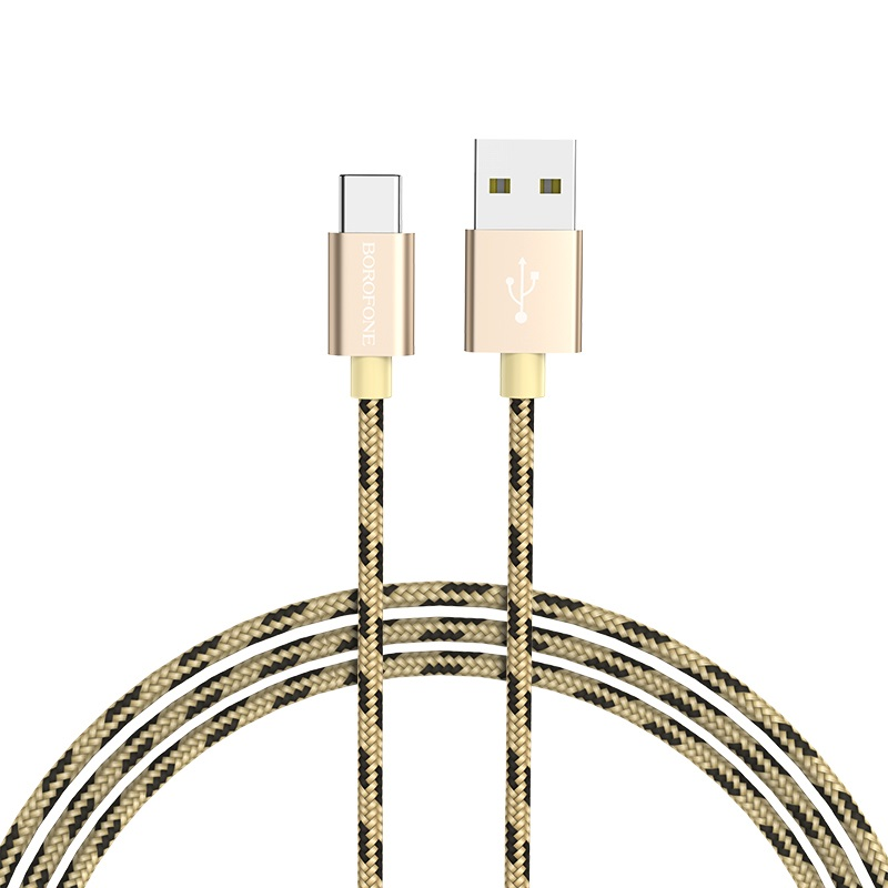 borofone bx24 ring current charging data cable for usb c rounded