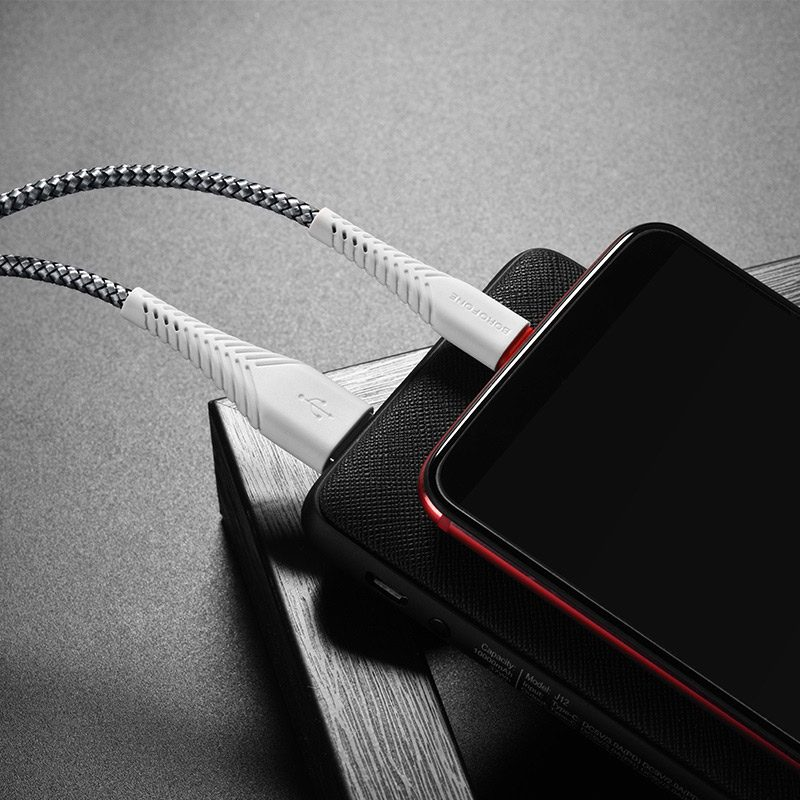 borofone bx25 powerful charging data cable for usb c overview