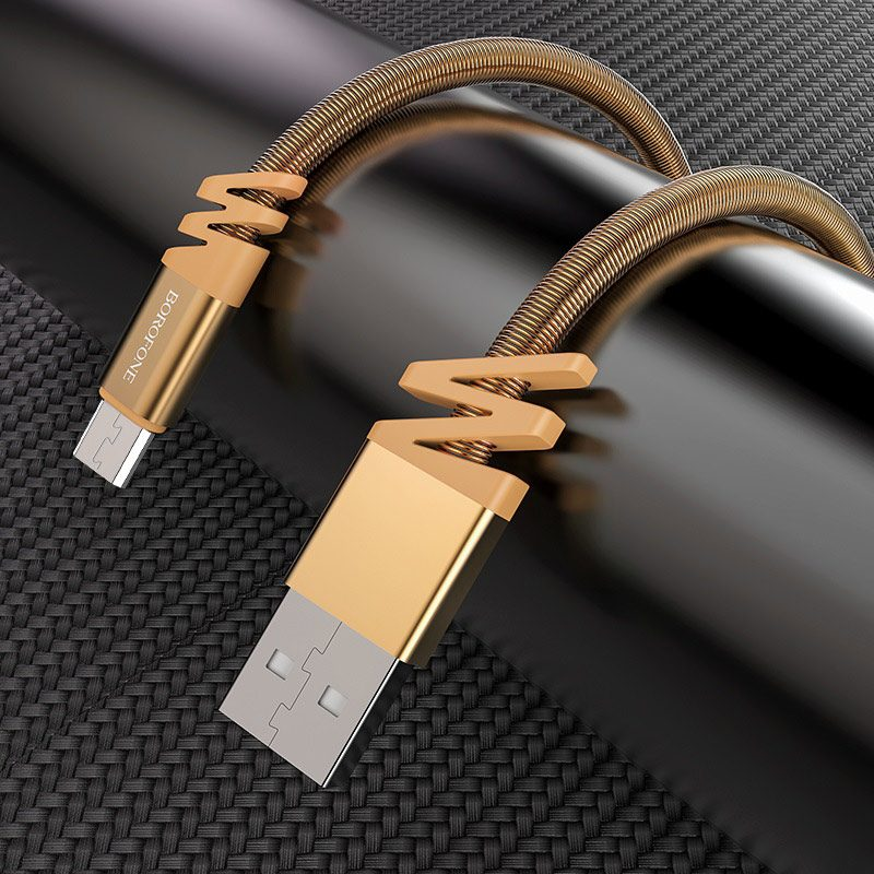 borofone bx27 dainty charging data cable for micro usb interior
