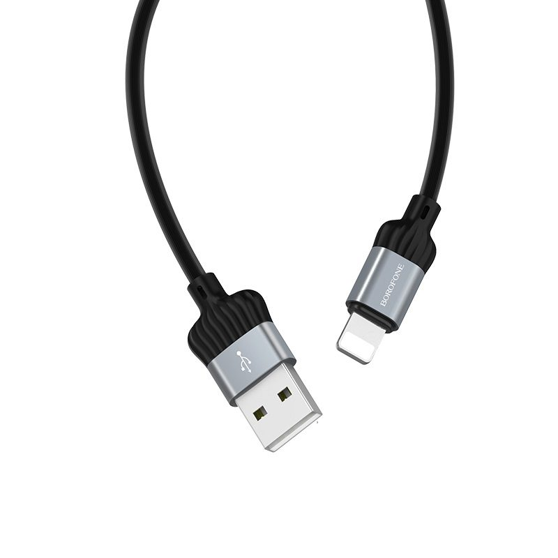 borofone bx28 dignity charging data cable for lightning joints