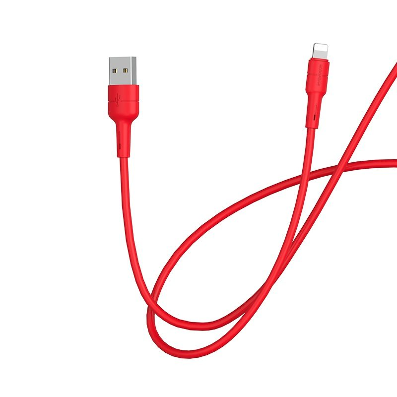 borofone bx30 silicone charging data cable for lightning wire