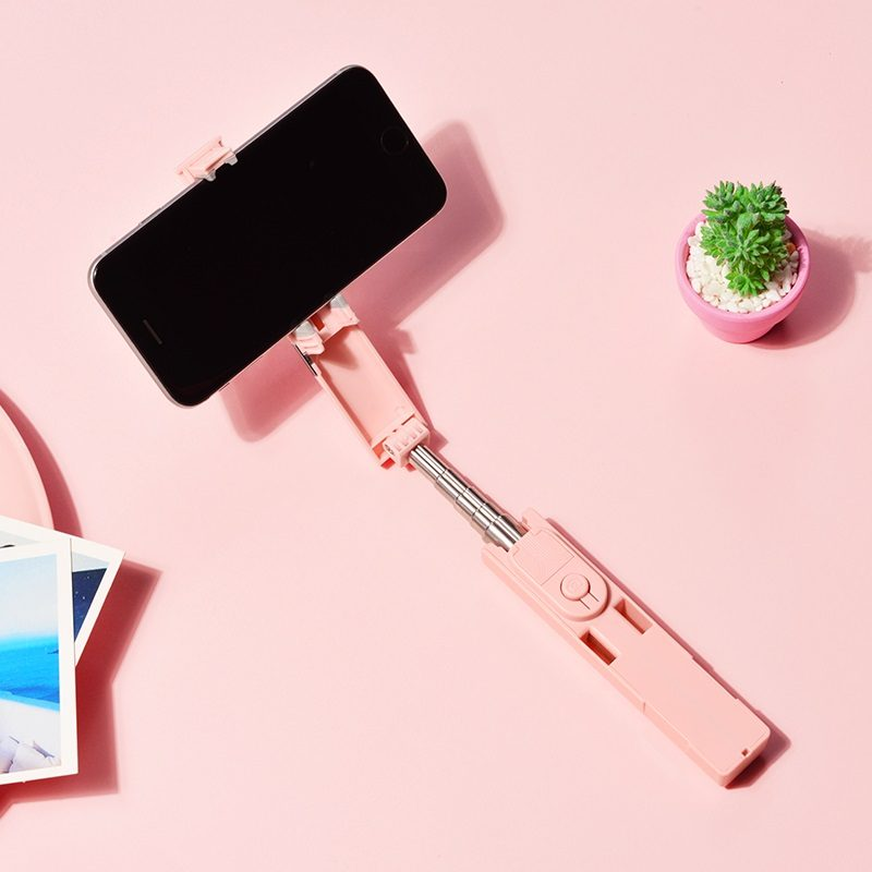 borofone by4 wireless selfie stick interior pink