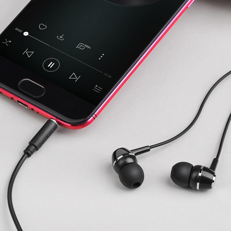 borofone bm36 acura universal earphones with mic overview