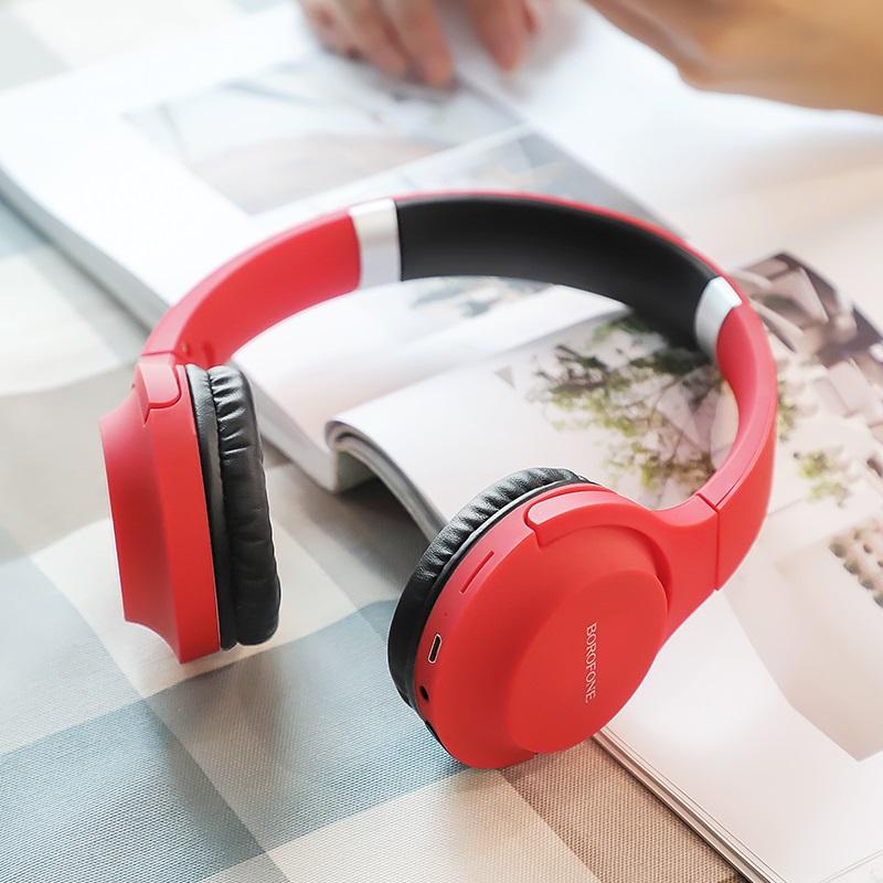 borofone bo6 poise rhyme wireless headphones interior