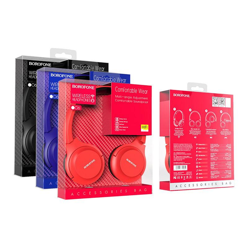 borofone bo6 poise rhyme wireless headphones package