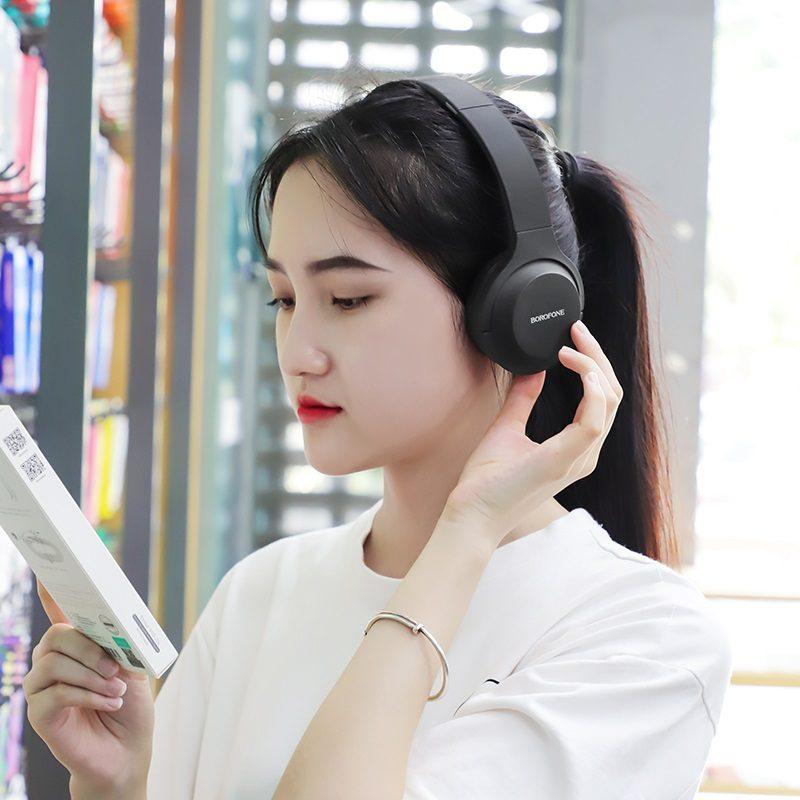 borofone bo6 poise rhyme wireless headphones women