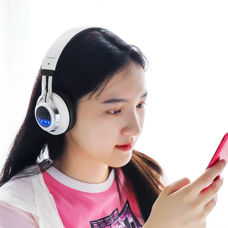 borofone bo8 love song wireless headphones women