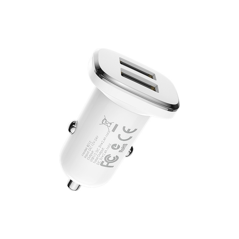 borofone bz12 lasting power double port in car charger specs