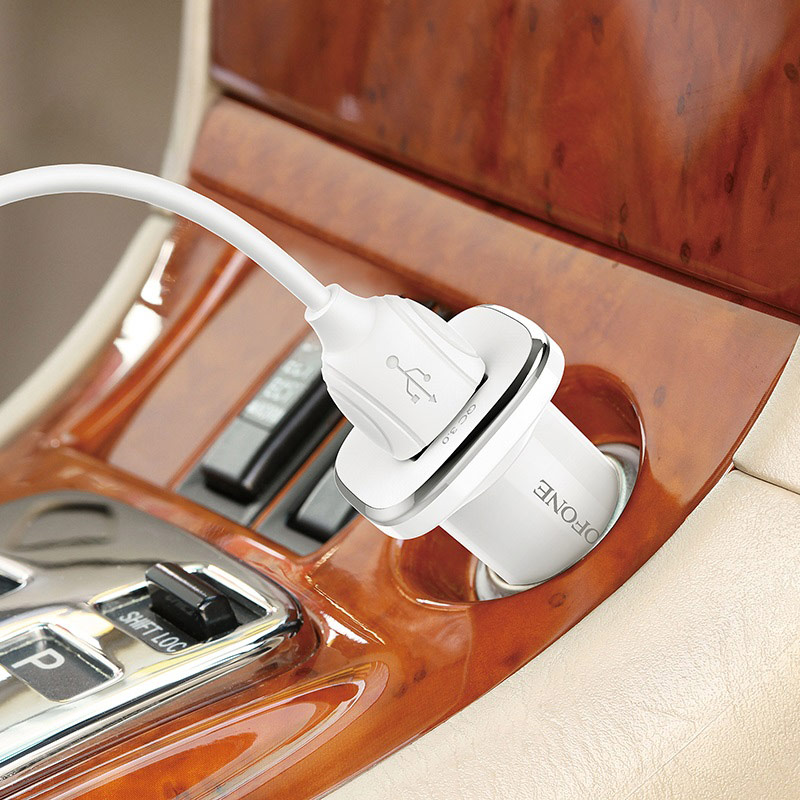 borofone bz12a lasting power qc30 single port in car charger interior
