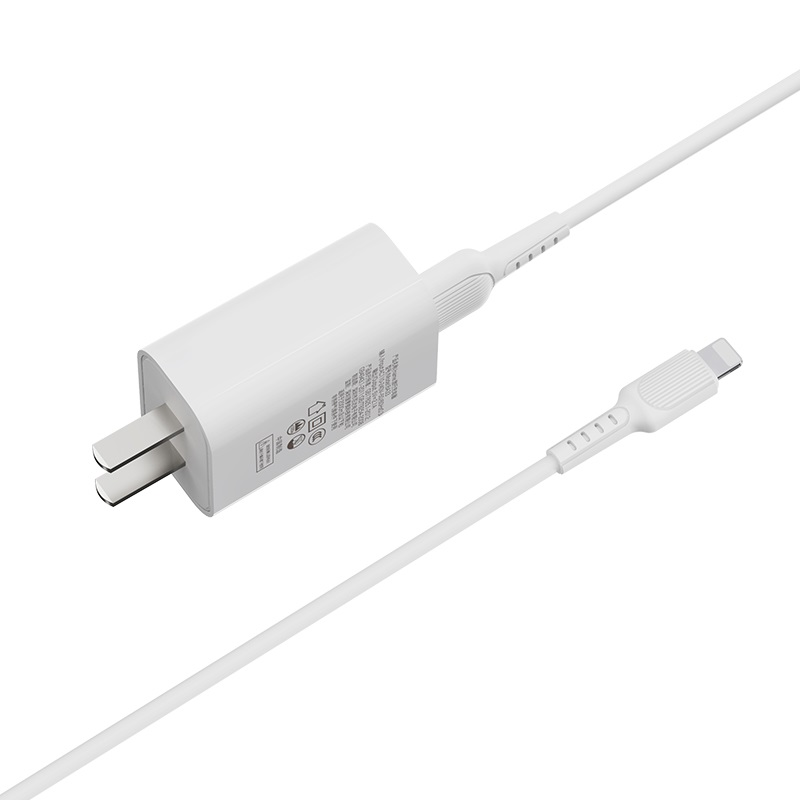 borofone ba33 fast joy single port charger set with lightning cable wire