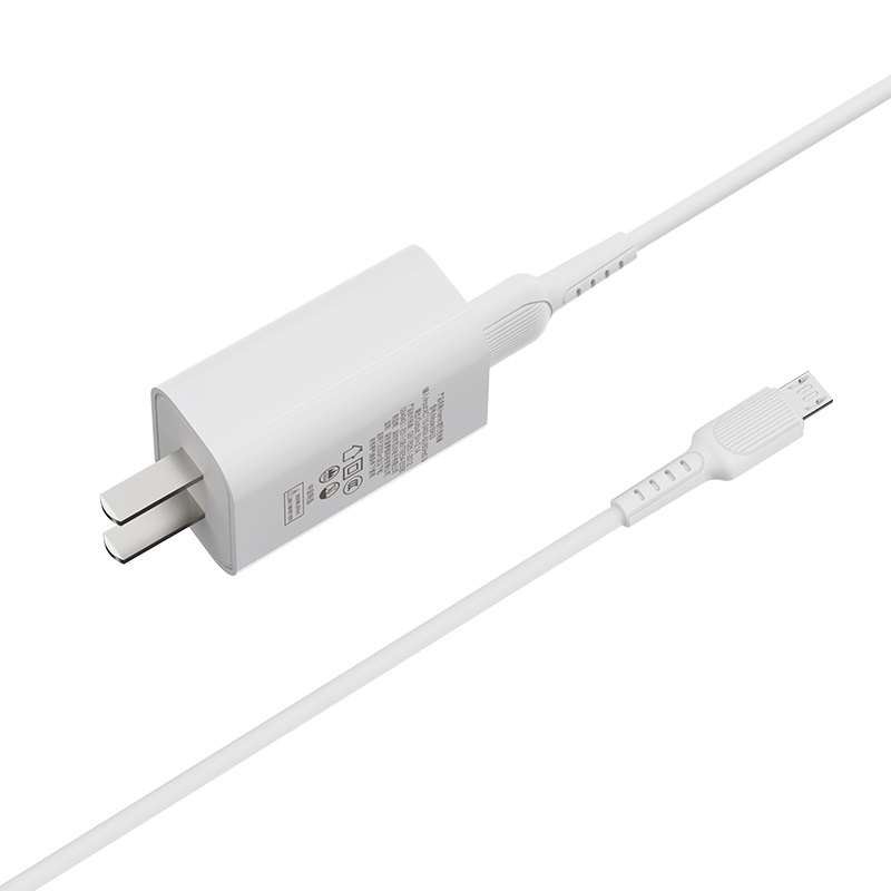borofone ba33 fast joy single port charger set with micro usb cable wire