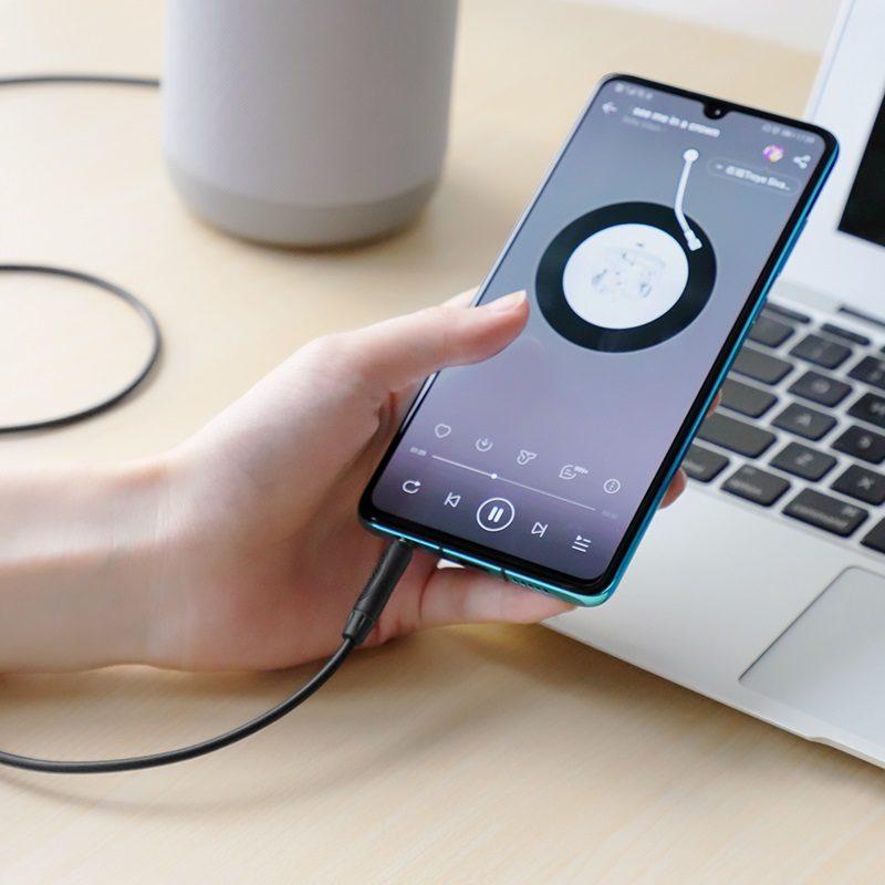 borofone bl5 aux audio cable with mic interior