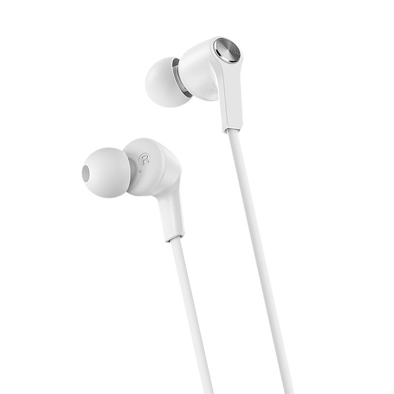 borofone bm37 noble sound wired control earphones with mic ear tips