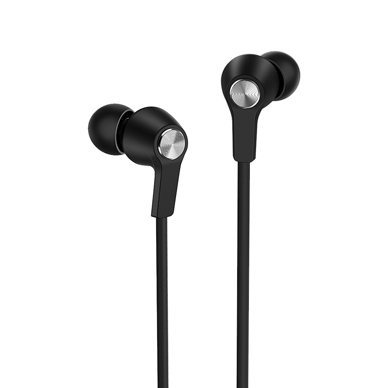 borofone bm37 noble sound wired control earphones with mic front