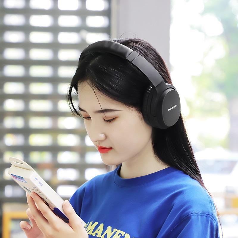 borofone bo7 broad sound wireless headphones women