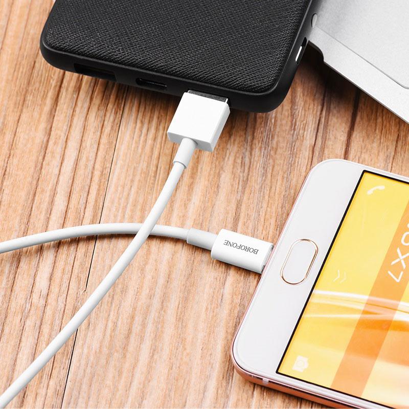 borofone bx3 skilled кабель для зарядки и передачи данных для micro usb упаковка капсула зарядка