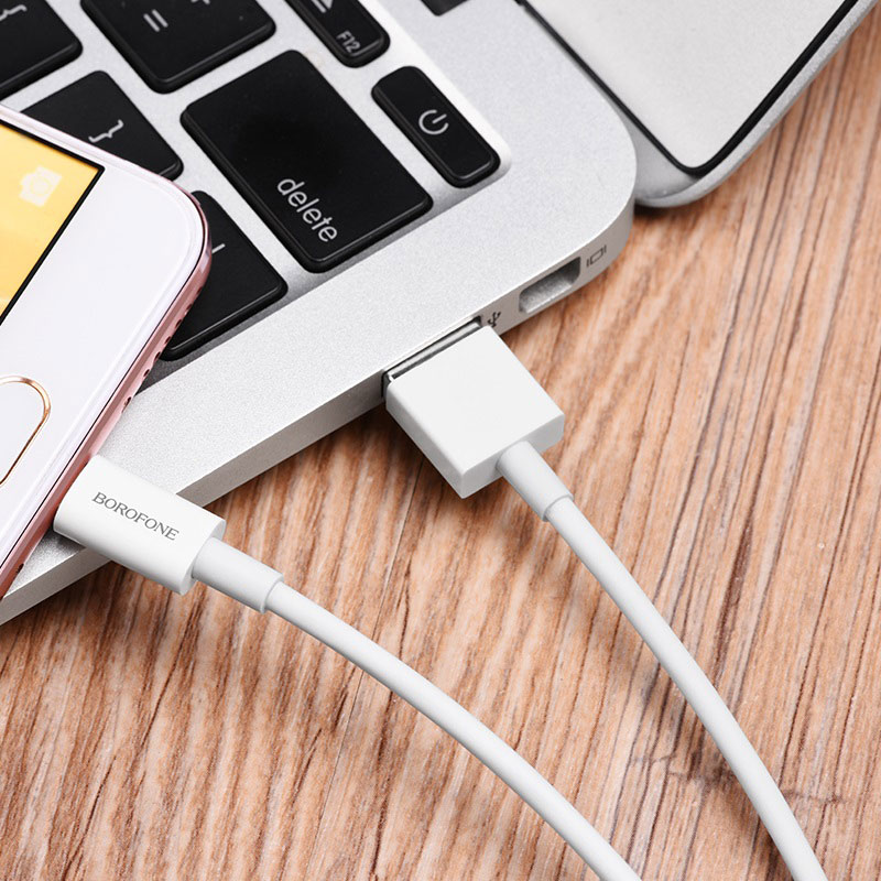 borofone bx3 skilled charging data cable for micro usb canned package interior