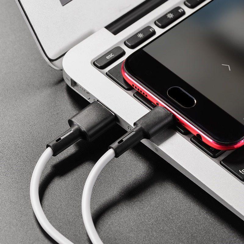 borofone bx31 soft silicone charging data cable for micro usb interior