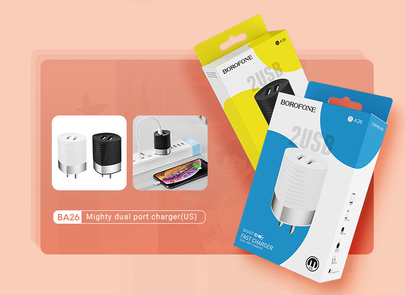 borofone news a series charging adapters collection ba26 en