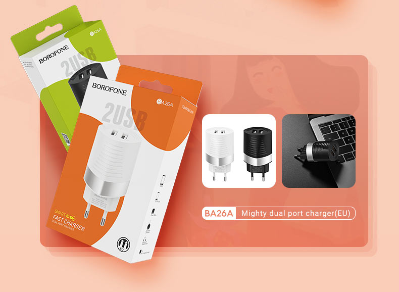 borofone news a series charging adapters collection ba26a en