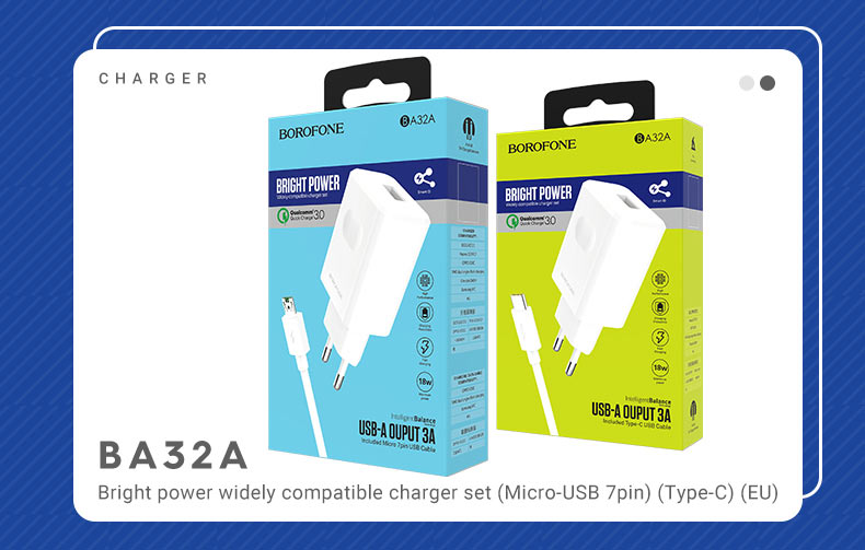 borofone news a series charging adapters collection ba32a set en